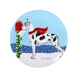 "Great Dane Harlequin Mail 3.5"" Button"