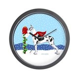 Great Dane Harlequin Mail Wall Clock