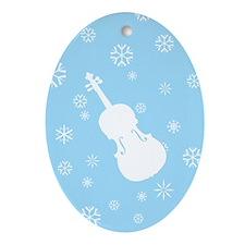 Viola Snowflakes Ornament (Blue Oval)
