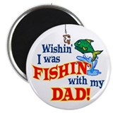 "Fishing With Dad 2.25"" Magnet (100 pack)"