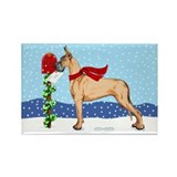 Great Dane Fawn Mail Rectangle Magnet