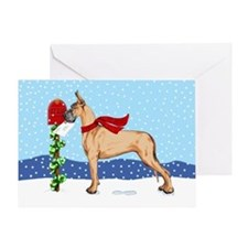 Great Dane Fawn Mail Greeting Card
