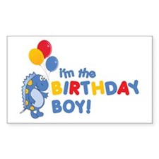 the birthday boy Rectangle Stickers