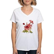 Faux Embroidery Chrysanthemum Shirt