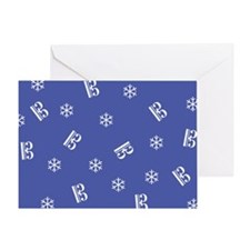 Alto/Tenor Snowflakes -b- Greeting Card
