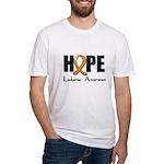Hope-Leukemia Fitted T-Shirt