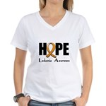 Hope-Leukemia Women's V-Neck T-Shirt