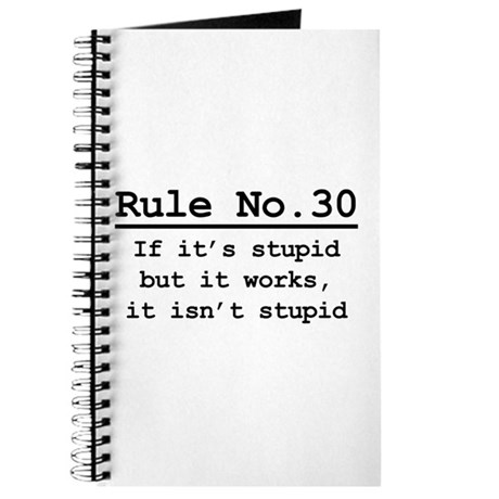 Rule No. 30 Journal