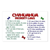 Chihuahua Property Laws 2 Postcards (Package of 8)