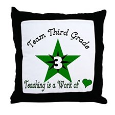 Team Third Grade Throw Pillow