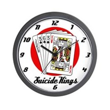 Suicide Kings Wall Clock