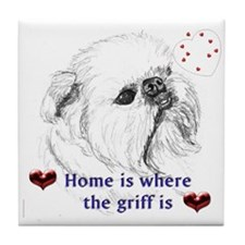 Sketch Brussels Griffon Tile Coaster