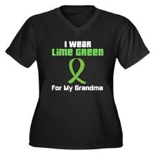 Lymphoma (Grandma) Women's Plus Size V-Neck Dark T