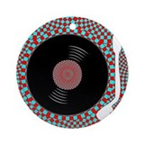 Psych Turntable Ornament (Round)