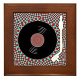 Psych Turntable Framed Tile