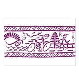 PURPLE TRI-BAND Postcards (Package of 8)