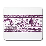 PURPLE TRI-BAND Mousepad