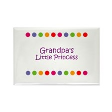 Grandpa's Little Princess Rectangle Magnet