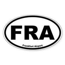 Frankfurt Airport Oval Decal
