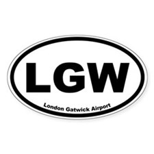 London Gatwick Airport Oval Decal