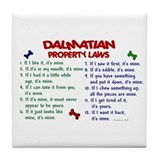 Dalmatian Property Laws 2 Tile Coaster