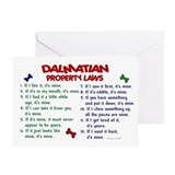 Dalmatian Property Laws 2 Greeting Card