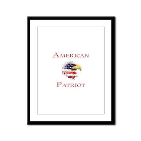 American Patriot Framed Panel Print