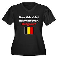 Make Me Look Belgian Women's Plus Size V-Neck Dark