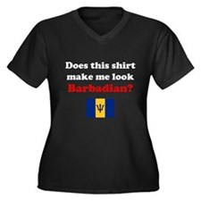 Make Me Look Barbadian Women's Plus Size V-Neck Da