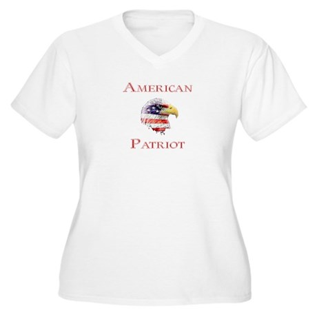 American Patriot Women's Plus Size V-Neck T-Shirt