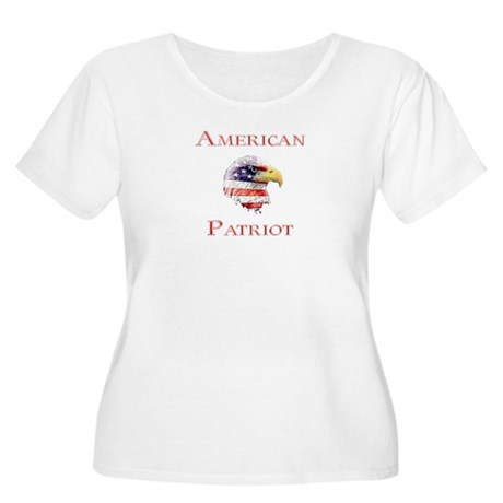 American Patriot Women's Plus Size Scoop Neck T-Sh
