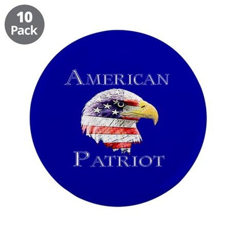 "American Patriot 3.5"" Button (10 pack)"