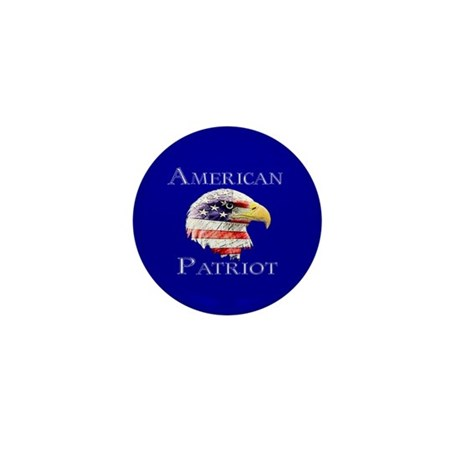 American Patriot Mini Button