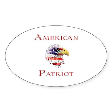 American Patriot Oval Sticker
