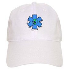 EMS Star Of Life Skull Baseball Cap