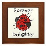 Forever Daughter Ladybug Framed Tile