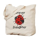 Forever Daughter Ladybug Tote Bag