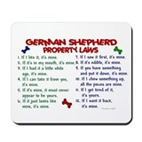 German Shepherd Property Laws 2 Mousepad
