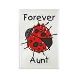 Forever Aunt Ladybug Rectangle Magnet