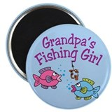 "Grandpa's Fishing Girl 2.25"" Magnet (100 pack)"