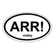 ARR! matey Oval Decal