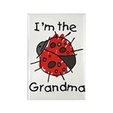 I'm the Grandma Ladybug Rectangle Magnet