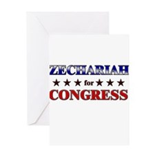 ZECHARIAH for congress Greeting Card