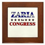 ZARIA for congress Framed Tile