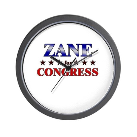 ZANE for congress Wall Clock