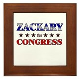 ZACKARY for congress Framed Tile