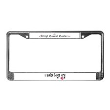I Make Boys Cry License Plate Frame