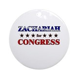 ZACHARIAH for congress Ornament (Round)