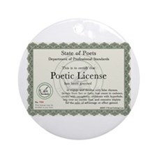 Poetic License Ornament (Round)