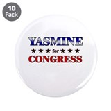 "YASMINE for congress 3.5"" Button (10 pack)"
